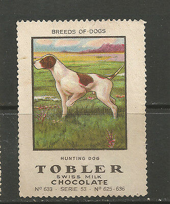 Switzerland Tobler Chocolate advertising stamp (Serie 53 No 633 Hunting Dog)