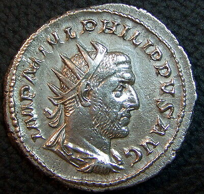 Philip I Joint Rule W/ Son. Antoninianus. Only 17 Month Dual Rule - Both Killed