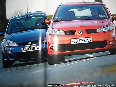 "Renault Sport Megane RS 225 v Ford Focus RS Mk1 ""Autocar"" Road Test Magazine"