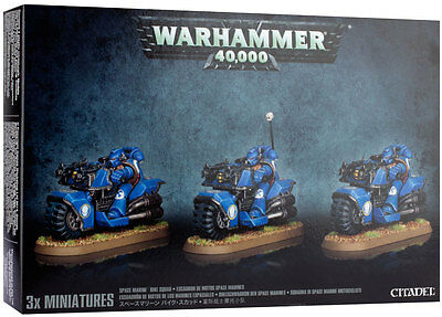 Space Marine Bike Squad Warhammer 40k nuevo/sealed
