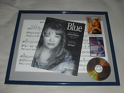 Framed Leann Rimes Sheet Music Signed Autographed Auto Vip Pass Backstage Blue
