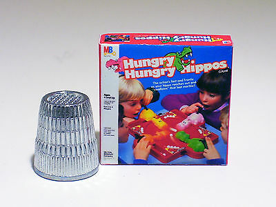 Dollhouse Miniature 1:12 - Hungry Hungry Hippos Game - 1970s 1980s Dollhouse toy