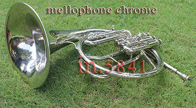 Mellophone/frenchhorn Bb/f Pitch Chrome Finish Great-Sound W/case&mp Flugelhorn