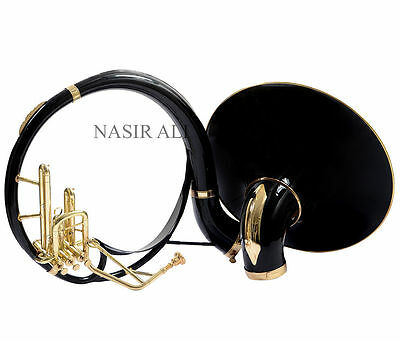 SOUSAPHONE FOR SALE BLACK COLORED Bb PITCH + BRASS TOUCH CLASSY LOOK W/ FREE MP