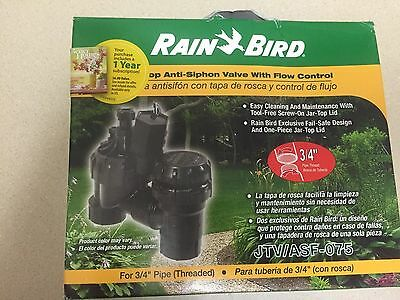 Rain Bird JTV/ASF-075 Jar Top Anti Siphon Valve With Flow Control 3/4""