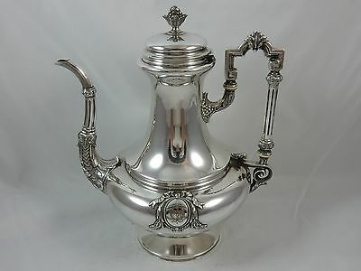 FRENCH , VICTORIAN silver COFFEE POT, c1890, 680gm