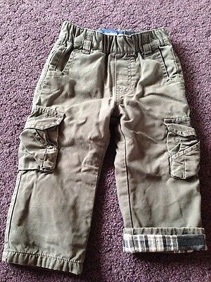 Timberland Grey Lined Cargo Pants Boys 18 Months