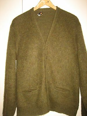 Vintage Mohair Cardigan Sweater Sz. M Puritan Cobain Grunge 60's Men's Green