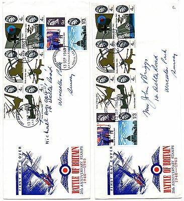 Pair of 25th Anniversary of Battle of Britain FDCs 1965 – ord./phos. Bureau post