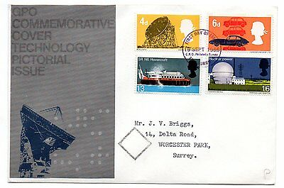 British Technology 1966 Phos. FDC Bureau postmark