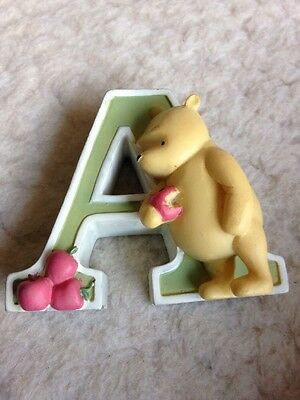 Disney Classic Pooh Alphabet Letter 'A' Figurine - Winnie The Pooh - VGC