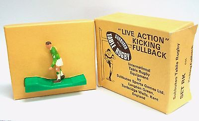 """# (Lot 3) GREEN SUBBUTEO Table Rugby """"Live Action"""" KICKING FULLBACK"""