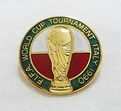 Vintage FIFA world cup tournament italy 1990 soccer pin