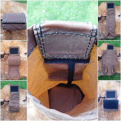Forager Bushcraft Hunting Survival Camping Pouch Small Waxed Heavy Cotton.