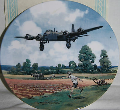 Stirling Home Run Heroes Of The Sky Royal Doulton Collectors Plate RAF