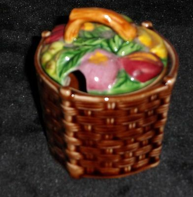 Marutomoware Basket Of Fruit Jam/marmalade/preserve Pot/japanese