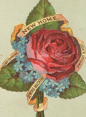 Advertising Trade Card The Light Running NEW HOME SEWING MACHINE Simplest & Best