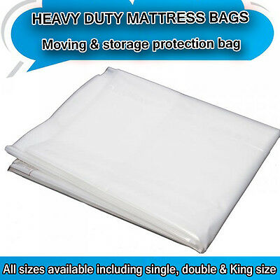 Heavy Duty  Removal Moving Mattress Polythene Cover Bag *400 Gauge*