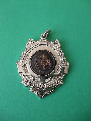 Vintage 1965 Silver Plated Top Weight Angling Medal.
