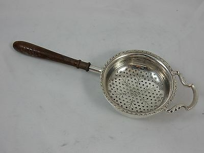 SOLID silver TEA STRAINER, 1961, 46gm