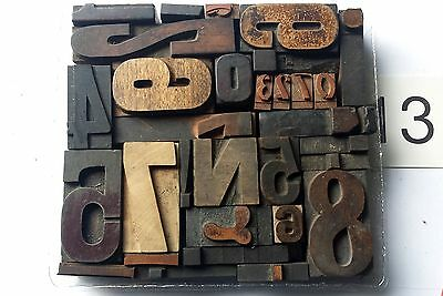 Letterpress wood printing block lot set,sorts,mixed letter type,wooden font.#13