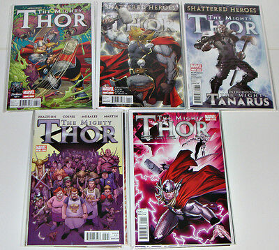 The Mighty Thor #1-15 & 12.1 Fraction, Coipel Complete Run 1st Prints