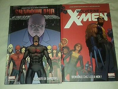 Lot Marvel Deluxe - Wolverine And The X-Men - Tome 1 + Daredevil Shadowland