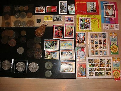 Old new stamps, 1972 Munich Olympics stamps  and coins 1862-1967