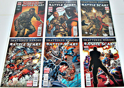Battle Scars - Shattered Heroes #1-6 Yost New Nick Fury Rare