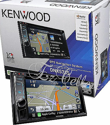 "KENWOOD DNX573S DVD CD 6.2"" HD Touchscreen LCD Navigation Bluetooth Radio NEW"