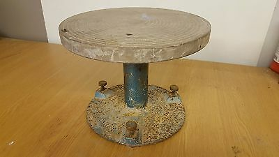 Vintage Pottery Banding Wheel and Metal base, 258mm, Clay, Ceramic, Ceramics