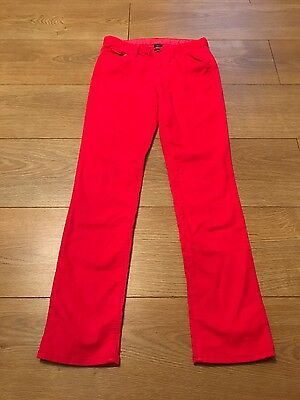 girls bright red GAP trousers 10-11 years