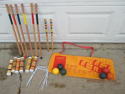 CROQUET SET in CANVAS CARRY BAG