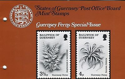 GUERNSEY PRESENTATION PACK MNH 1975 GUERNSEY FERNS Special Issue
