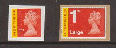 ROYAL MAIL SIGNED FOR PAIR-Unfranked-On Paper