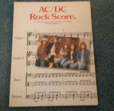 AC/DC Rock Score sheet music book