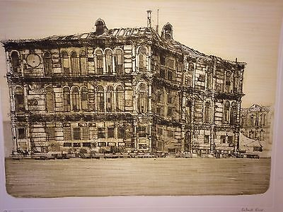 VENICE PALAZZO Large Signed Limited Edition Etching by Richard Beer c1965
