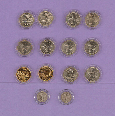 State & US Territories Quaters & dimes, all encapsulated
