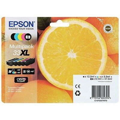 Cartucho Original Epson T3357, epson 33 XL  (Pack 5 colores)
