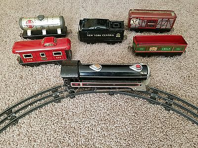 Vintage Marx Electric Marlines NY Stream Line Electric Train Tin
