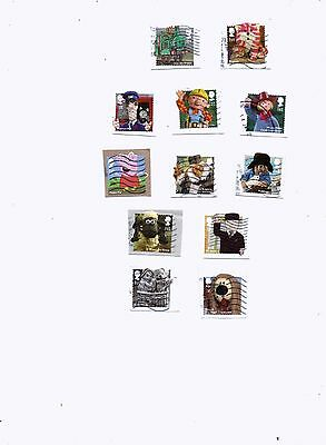 GREAT BRITAIN STAMPS 2014 CHILDRENS TV SET OF 12 USED from kiloware