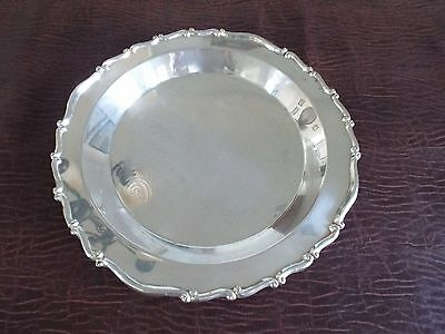 FB Rogers Silver Co. 1883 Ornate Scrolled Silver Plate Butler Platter / Bowl