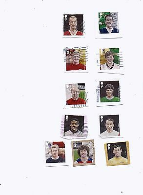 GREAT BRITAIN STAMPS 2013 FOOTBALL HEROES set of 11 from kiloware.
