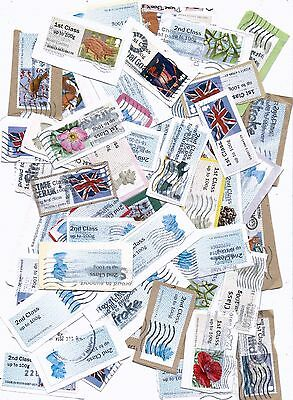 Great Britain Stamps 50 Mixed Used Post And Go Labels From Kiloware.