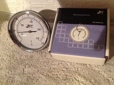 Thermometer 100 mm dial back entry thermometer 0/120 o C&F