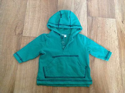 Baby Boys Green Hoodie Hooded Sweater Jumper Top F&F 0-3 Months Combine Post
