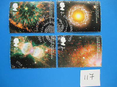 2002 GB Commemorative: Astronomy stamps from M/S, ex-fdc  #117