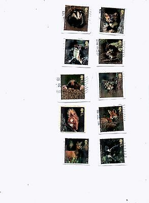 GREAT BRITAIN STAMPS 2004 WOODLAND ANIMALS USED from Kiloware