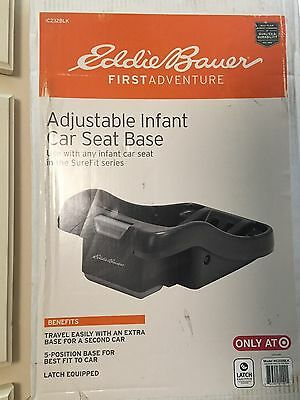 NIB*EDDIE BAUER Adjustable Infant Car Seat Base for SureFit Series*Mod IC232BLK
