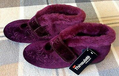 Marks And Spencer Ladies Slippers Thinsulate Size 5 New With Tag
